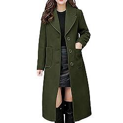 Plus Size Chloe Snap Front Coat Womens Long Coat Lapel Parka Jacket Cardigan Overcoat Outwear