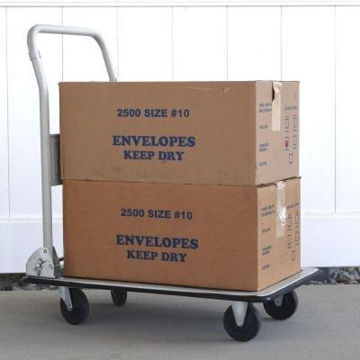 330 lbs. Capacity Steel Folding 4-Wheeled Platform Truck in White