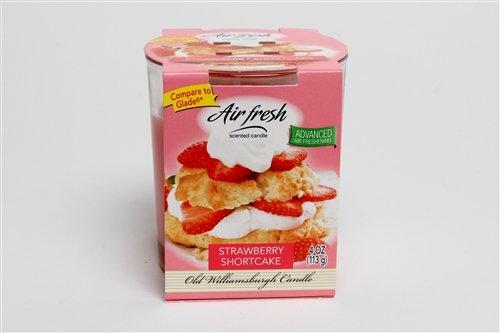 Air Fresh Odor Eliminating Scented Candle, 4 oz. Tumbler - Glade Type Jar Candle, Strawberry Shortcake