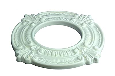 "Recessed White Spotlight Ring 4"" ID X 8"" OD Factory Primed Lightweight High-Density Urethane Cracking Peeling Warping Insect Water Resistant Easy Install"