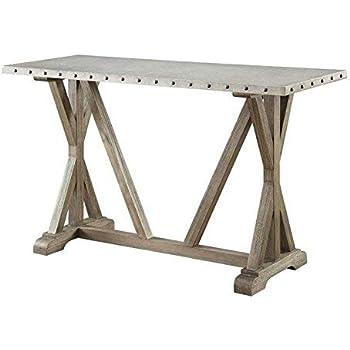 Amazon.com: homelegance beaugrand estilo industrial mesa ...