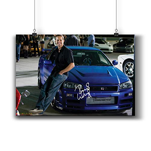 Fast & Furious (2009) Movie Poster Small Prints 423-408 Paul Walker Reprint Signed Casts,Wall Art Decor for Dorm Bedroom Living Room (A3|11x17inch|29x42cm)