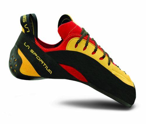 La Sportiva Testarossa Climbing Shoe - Red/Yellow 36 by La Sportiva