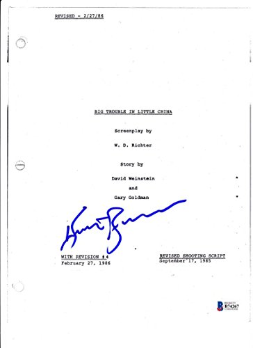 KURT RUSSELL SIGNED BIG TROUBLE IN LITTLE CHINA FULL MOVIE SCRIPT BECKETT