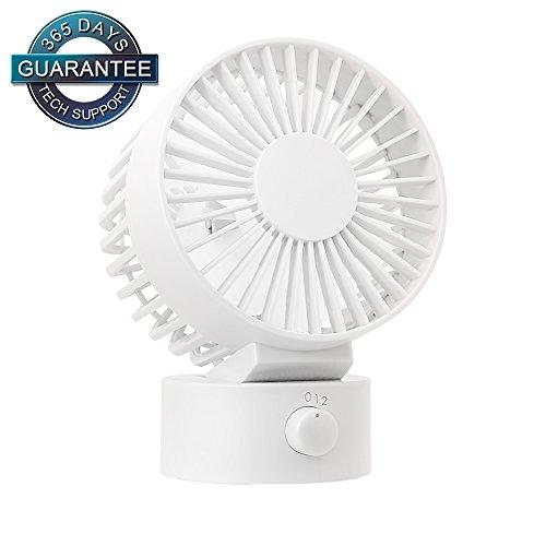 WitMoving Desk Fan New & Noiseless USB Fan with Adjustable Head, Dual Fan...