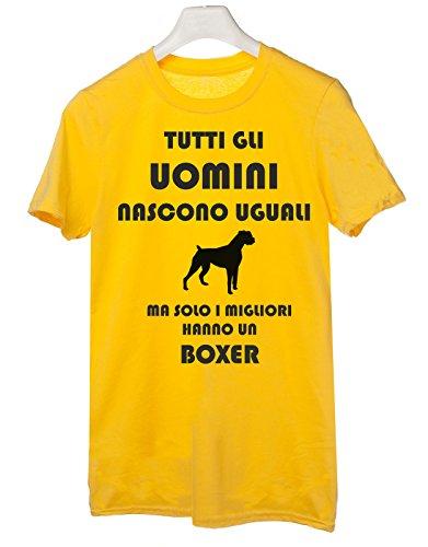 Un Le Taglie Humor Tshirt Ma Giallo I Hanno Gli Dog Tutti Nascono Uomini Boxer Cani Migliori Tutte Solo Uguali wwxC4SqTv