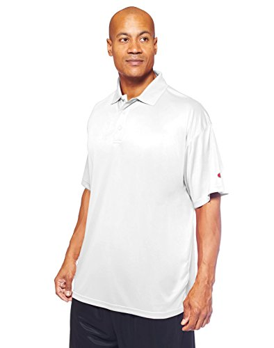 Champion Men's Big & Tall Short-Sleeve Polo Shirt, White, 5XL ()
