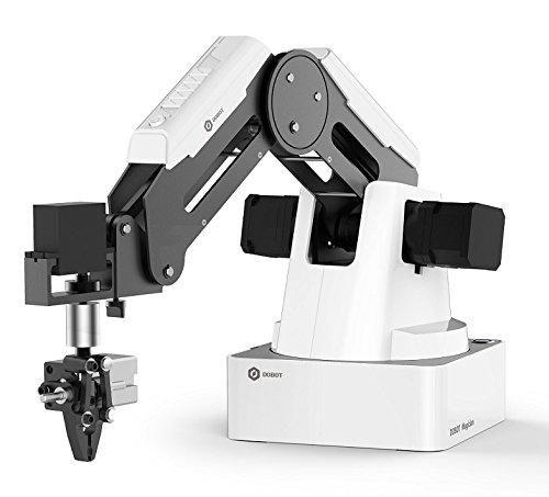 DOBOT Magician Educational Programming Robot, 4-axis Robot Arm with 3D Printer, Pen Holder, Suction Cap, Gripper Heads for K12 or STEAM Education - Basic Version
