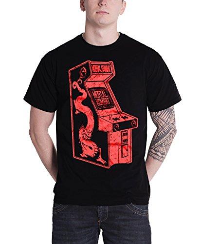 Mortal Kombat T Shirt Arcade new Official Mens Black (Scorpion From Mortal Kombat)