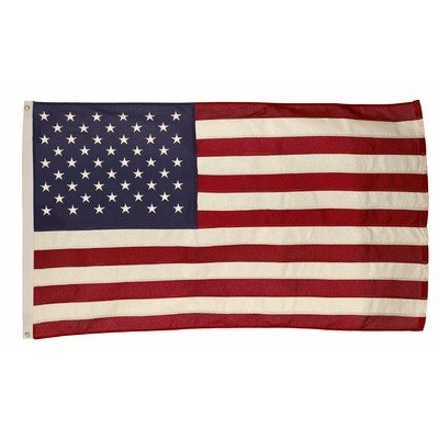 Valley Forge American Flag 3ft x 5ft Cotton Best Brand Cotton Embroidered American Flag