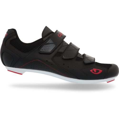 Giro 2012 Mens Treble Road Bike Shoes (Black/White/Red - 42)