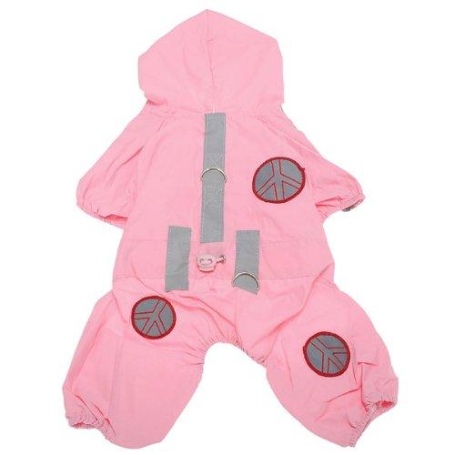 Pet Dog Clothes Waterproof Hoodie Jumpsuit Raincoat Jacket Apparel,Asian Size:XS,Pink, My Pet Supplies