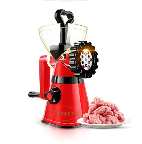 Fshopping hand crank meat mincer grinder with powerful suction base sausage maker multiple purpose by Fshopping