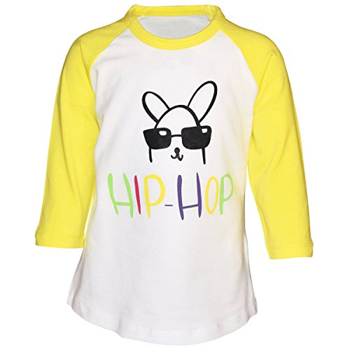 Unique Baby Unisex Raglan Hip Hop Easter Bunny Shirt (7) by Unique Baby