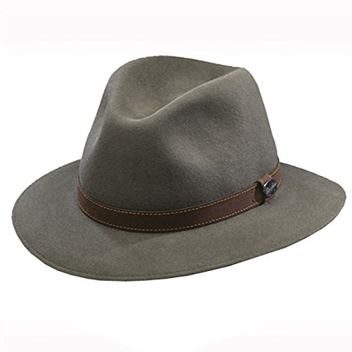 - Borsalino Casual Crusher Hat - The Marco-Taupe-57