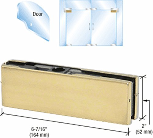 CRL Brass Top Door Patch Fitting with 1NT303 Insert PH21ABR by CR Laurence