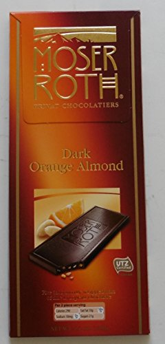 Dark Orange Almond Chocolate Privat Chocolatiers 4/PK - Almond Orange Truffles