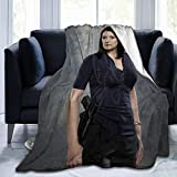 Sunshine-supermarket Criminal Minds Blanket 3D Print Anti-Pilling Flannel Throw Emily Prentiss Blanket for Home Sofa Couch,80'' x60