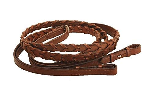 Tory Extra-Large Horse Laced Reins with Hook End - 72 Inches ()