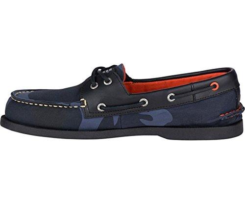 Sperry Heren Jack Spade Authentieke Originele 2-eye Bootschoen Navy Camo