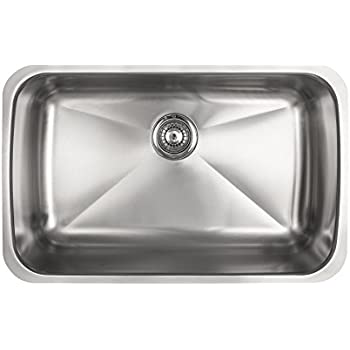 Kindred KSS5UA/9D Single Bowl Stainless Steel Undermount 9-Inch Deep Kitchen Sink