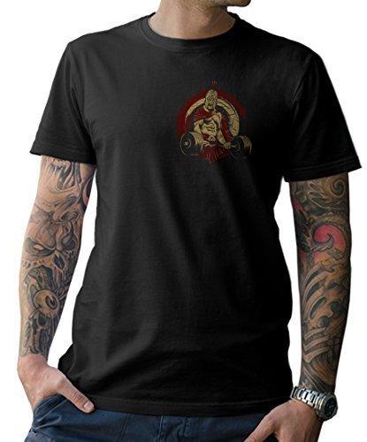 99e68b930c7 NG articlezz Spartan Entrenamiento Camiseta – Frontal Y Dibujo EN La  Espalda Fitness Talla s-