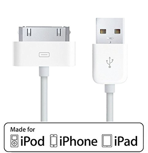 [Apple Certified] ACEPower 4 Feet (1.2M) 30 pin USB Sync and Charging Cable for iPhone 4 / 4S /3G / 3GS, iPad 1 2 3, iPod nano 5th / 6th and iPod Touch 3rd / 4th generations,White (Retail Packaging) 3rd Generation Ipod