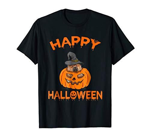 Funny Chow Chow in Pumpkin Halloween T-Shirt -