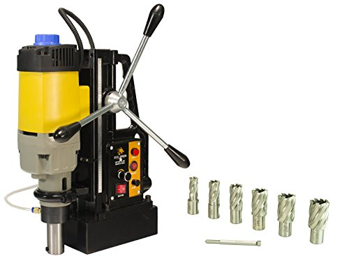 Steel Dragon Tools MD50 Magnetic Drill Press with 7pc 1in. HSS Annular Cutter Kit