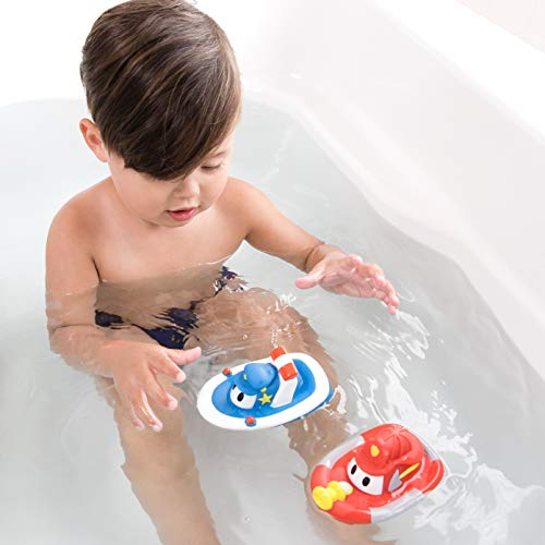 Nuby 2-Pack Tub Tugs Floating Boat Bath Toys, Colors May Vary