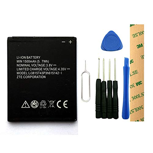 for Cricket ZTE Prelude 2 Z669 Replacement Battery Li3815T43Ph615142-I Free Adhesive Tool (2 Prelude Z669 Zte)