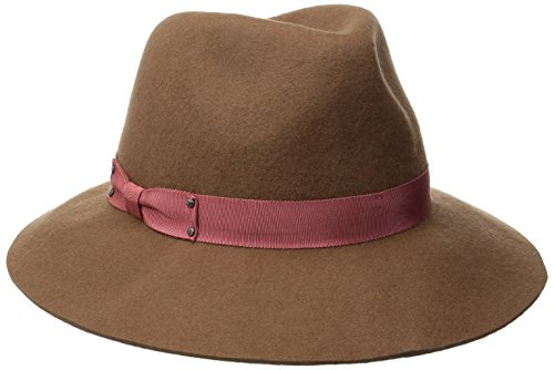 Genie by Eugenia Kim Women's Florence Wool Felt Wide-Brim Fedora Hat, Camel, One Size