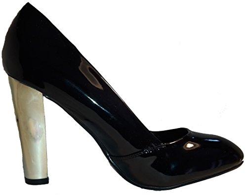Negro hohenlimburg De Mujer w Plataforma Sintético plateado Material 3 B0xOqPwn