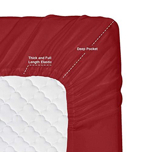 Nestl Bedding 4 Piece Sheet Set 1800 Deep Pocket Bed