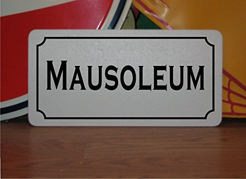 MAUSOLEUM Vintage Style Metal Sign for House Halloween Haunted -