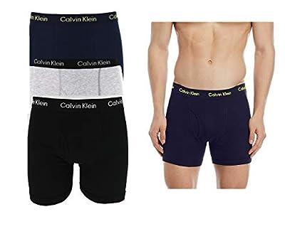 Calvin Klein Men's 3 Pack Cotton Stretch Underwear Briefs Trunk Boxers S M L XL (L, Boxers NP2015Y)