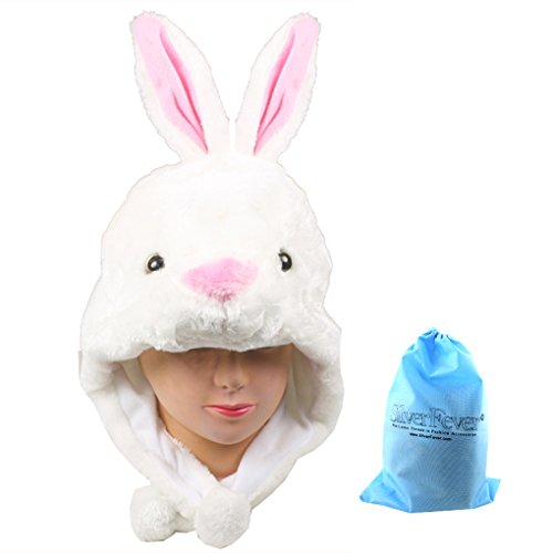 Silver Fever Plush Soft Animal Beanie Hat (White (Snow Bunny Costumes Halloween)