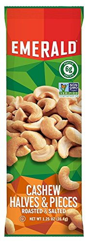 Emerald Cashew Halves and Pieces, 1.25-Ounce (Pack of 12)