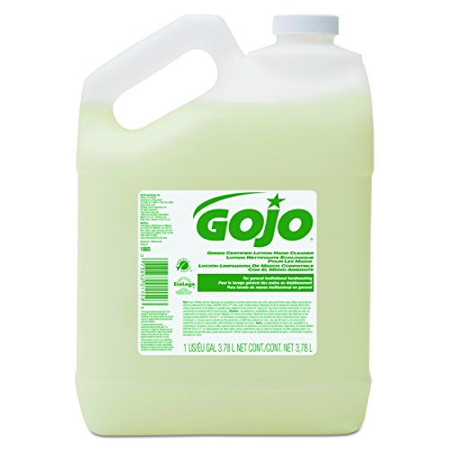 GOJO 186504 Green Certified Lotion Hand Cleaner, 1 Gallon Bottle, Floral Scent (Case of 4) Scent 1 Gallon Bottle