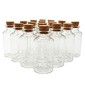 41I4PA5-MqL._SS300_ Large & Small Glass Bottles With Cork Toppers