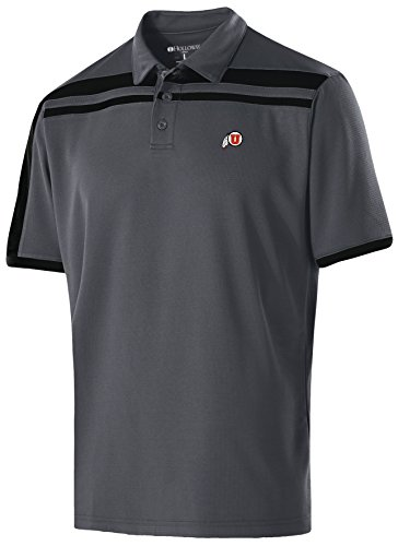 best service 0c88b 11332 Ouray Sportswear NCAA Utah Utes Men s Charge Polo, Large, Carbon Black