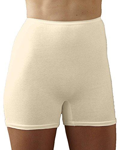 National Cotton Straight Leg Panty, Beige, 13, 6-pk