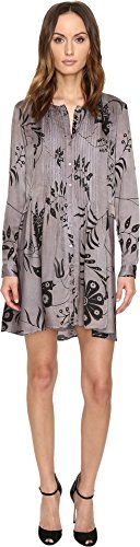 Taupe Mix (Manila Grace Women's Printed Long Sleeve Dress Taupe Mix 44)