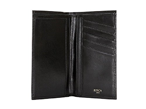 Bosca Old Leather Coat Pocket Wallet (One Size, Black) by Bosca
