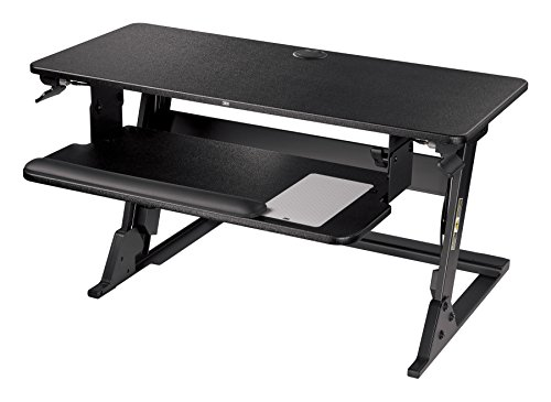 3M Precision Standing Desk, Convert Desk to Sit Stand Desk, Fully Assembled, Provides Maximum Adjustability to Achieve Your Most Comfortable Standing Work Position, Gel Wrist Rest, Mouse Pad, SD60B by 3M