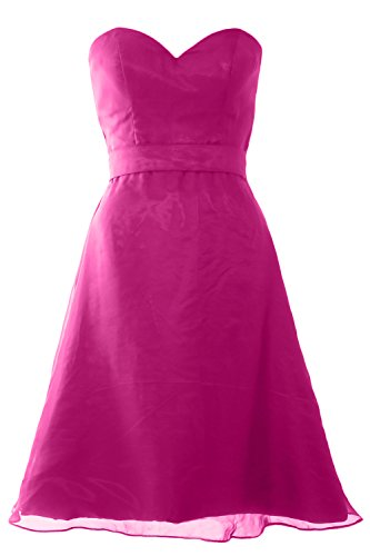 MACloth with Sash Short Party Dress Fuchsia Sweetheart Gown Wedding Women Bridesmaid ArxHqA8