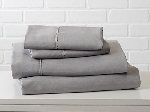Great Bay Home Luxury Ultra Soft Bamboo Sheet Set. Spa-Quality, Comfortable, All-Season Bed Sheets. By Brand. (King, Paloma Grey) by Great Bay Home (Image #9)