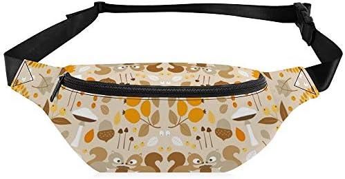 秋の森 ウエストバッグ ショルダーバッグチェストバッグ ヒップバッグ 多機能 防水 軽量 スポーツアウトドアクロスボディバッグユニセックスピクニック小旅行