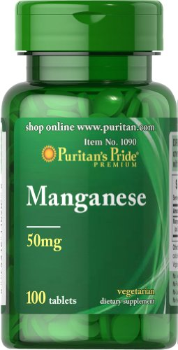 Puritan's Pride Manganese 50 mg-100 Tablets