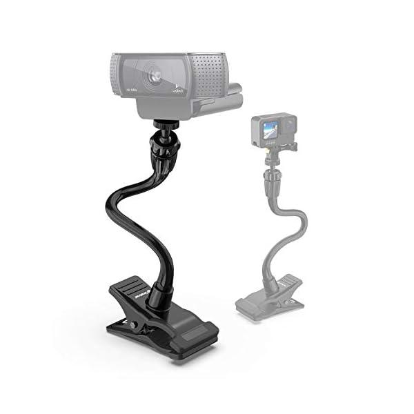 Smatree Adjustable Jaws Flex Clamp Mount 134inch Gooseneck Extension Compatible for Logitech Webcam